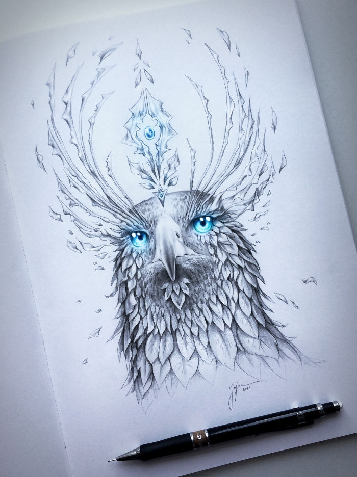 15-Eagle-Jonas-Jödicke-jojoesart-Fantasy-Animal-Drawings-with-Souls-of-Nature-www-designstack-co
