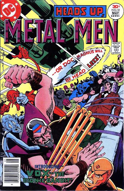 Metal Men v1 #51 dc 1970s bronze age comic book cover art by Walt Simonson