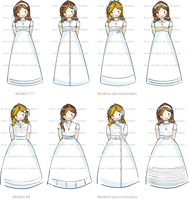Vestidos personalizados niña Comunión originales