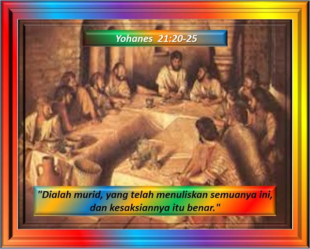 YOHANES 21:20-25