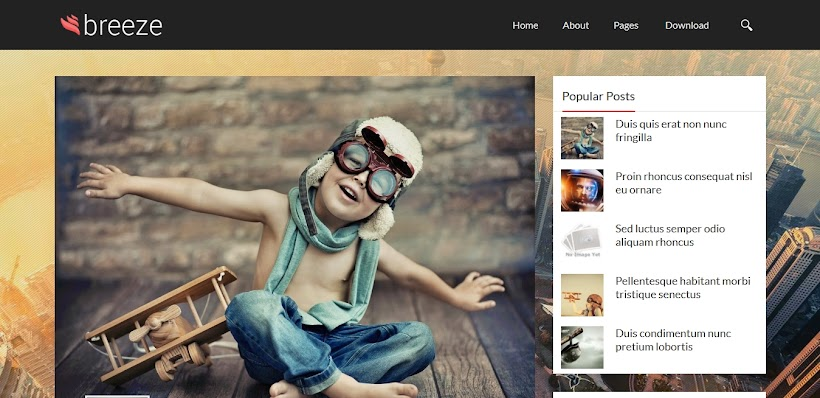 Breeze Free Blogger Template