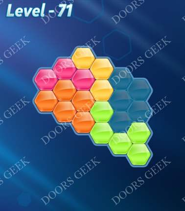 Block! Hexa Puzzle [Rainbow A] Level 71 Solution, Cheats, Walkthrough for android, iphone, ipad, ipod