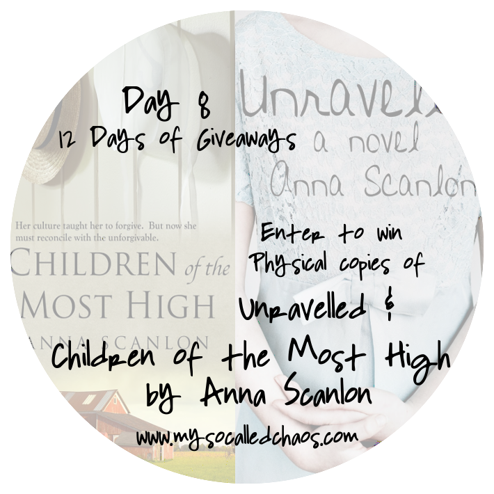 12 Days of Giveaways Day 8: Books by Anna Scanlon