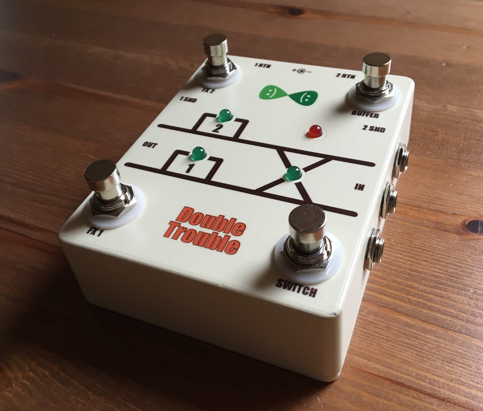 Toms Guitar Projects Sub Wiring Two Amps There Are Independent Single Jfet Buffer Circuits Inside One For Each Channel The Buffers True By Pass Using Relais This Means That If Power