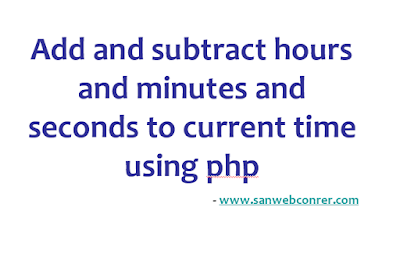 Add hours to current date using php