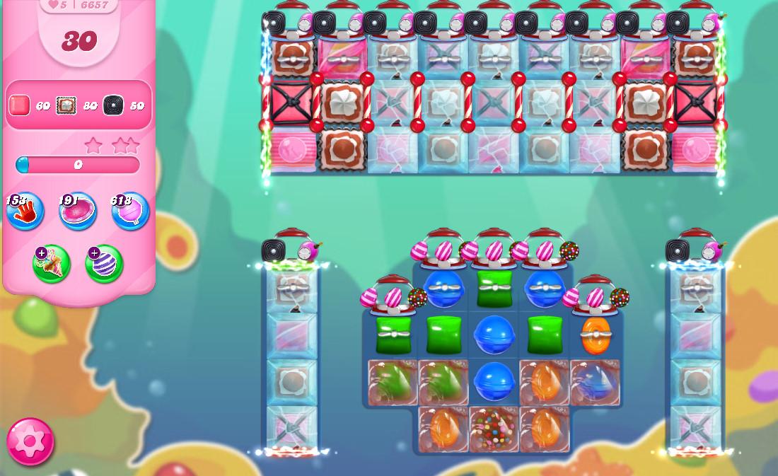 Candy Crush Saga level 6657