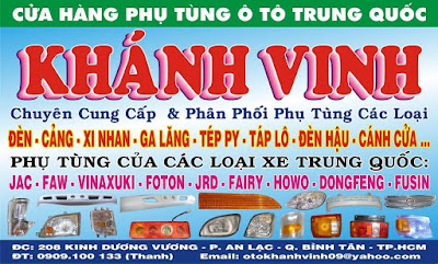 Gọi 0909100133 – Bán phụ tùng xe tải Vinaxuki – Jac – Faw – Foton – Fusin