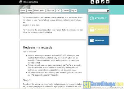 Anda bisa menukarkan saldo poin anda mulai jumlah $ 0.13 USD | SurveiDibayar.com