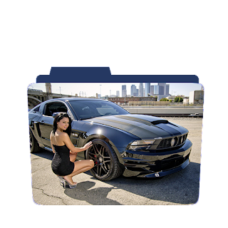 Preview of girl car mechanic, sexy mechanic folder icon, girls icon