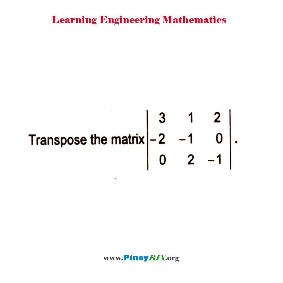 Transpose the matrix,