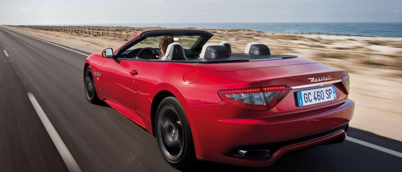 Bagagliaio Maserati GranCabrio: capacità volumetrica in litri