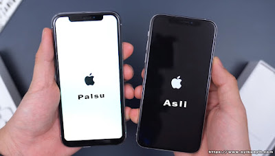 Restart iphone xs asli dan palsu