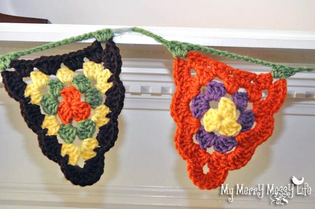 Fall Crochet Granny Stitch Bunting Pattern