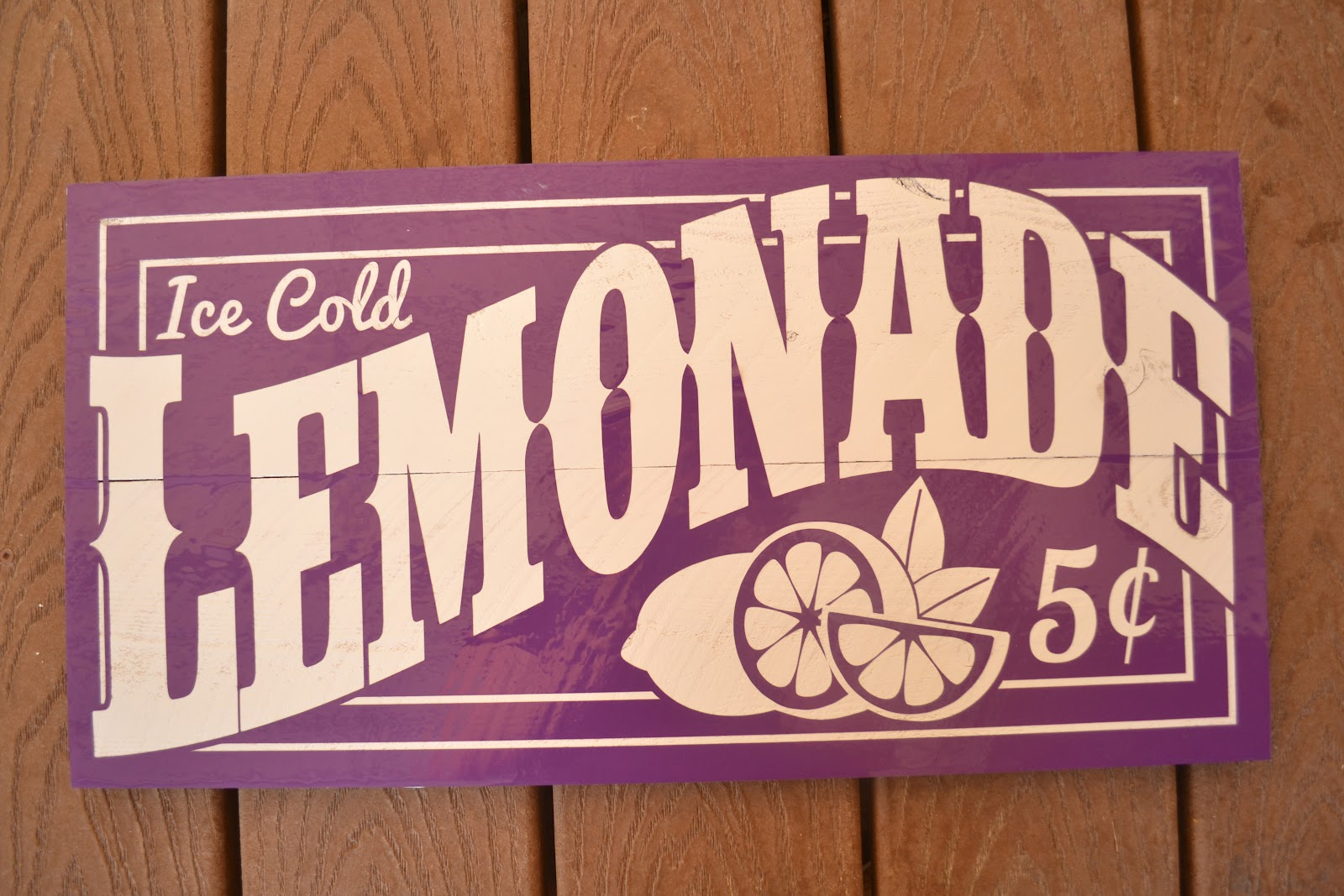diy old fashioned lemonade sign burton avenue