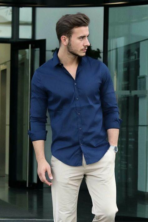 look masculino estiloso azul para o verao e carnaval cor do ano 2019 moda masculino