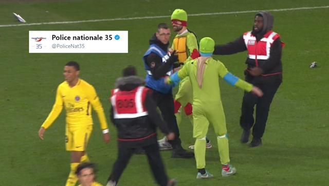 tweet la police rennaise aTortues Ninja