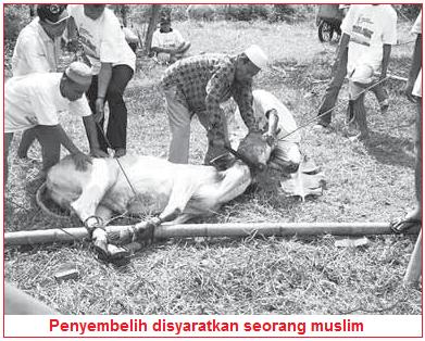 Penyembelih disyaratkan orang islam