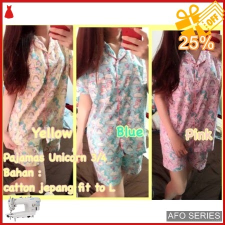 AFO643 Model Fashion Pajamas Unicorn Modis Murah BMGShop