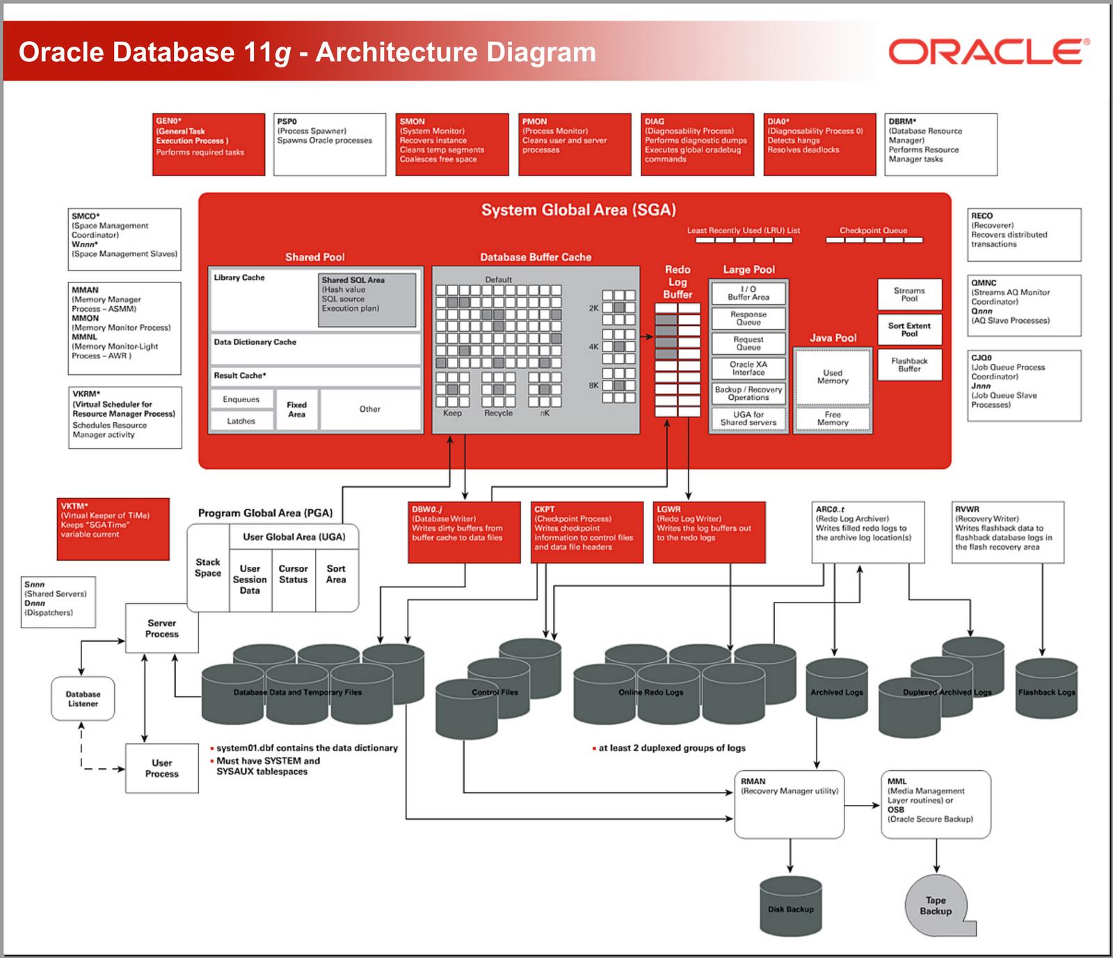 Oracle Database 11g Architecture Diagram With Explanation Ladybug Life Cycle Naveen Mukkasa Hub