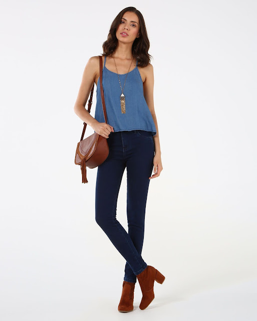 Moda Blusa Jeans