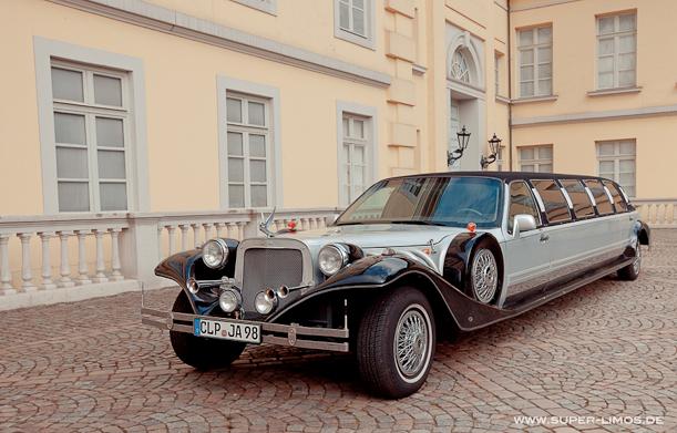 Excalibur Limousine zur Hochzeit mieten Retrofahrzeug bei super-limos.de