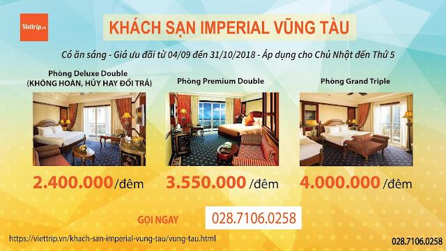 Khuyến mãi hấp dẫn khi đặt khách sạn Imperial Vũng Tàu