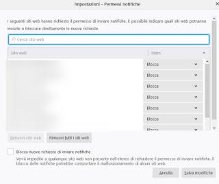 Notifiche Firefox