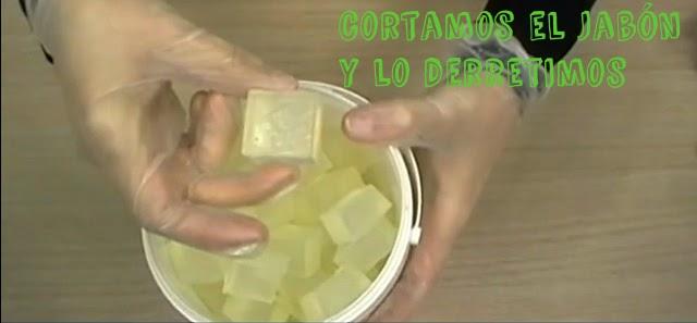 hacer jabon de glicerina con aloe vera