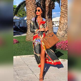 Εντυπωσιακό χρωματιστό φόρεμα VENERA