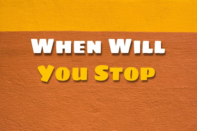 When Will You Stop - Mi Short Stories