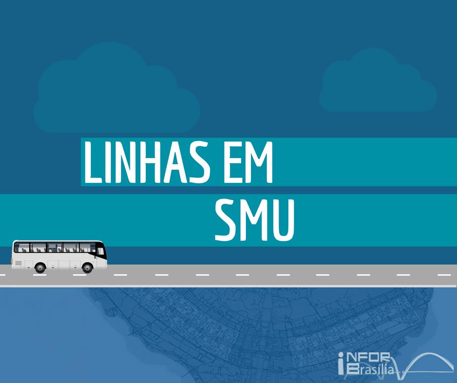 Horário de ônibus das linhas do SMU