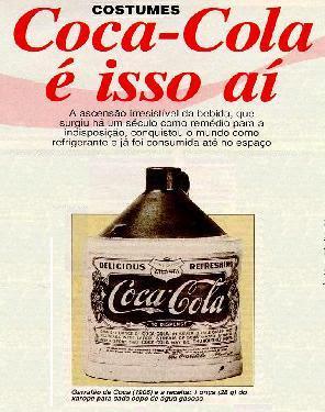 Resultado de imagem para COCA COLA ERA REMEDIO