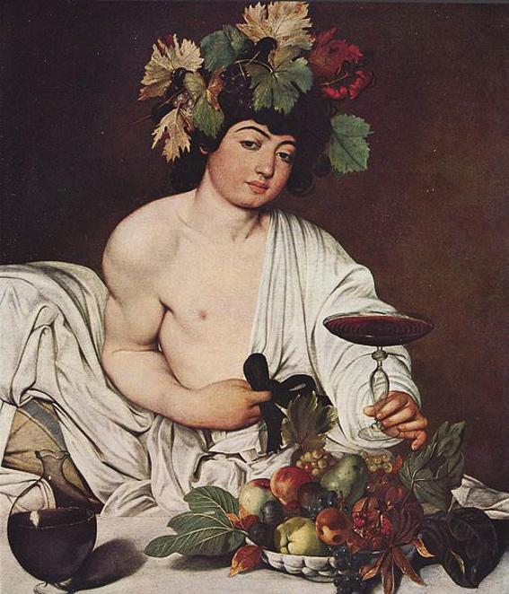 Baco de Caravaggio. Galeria Uffizi