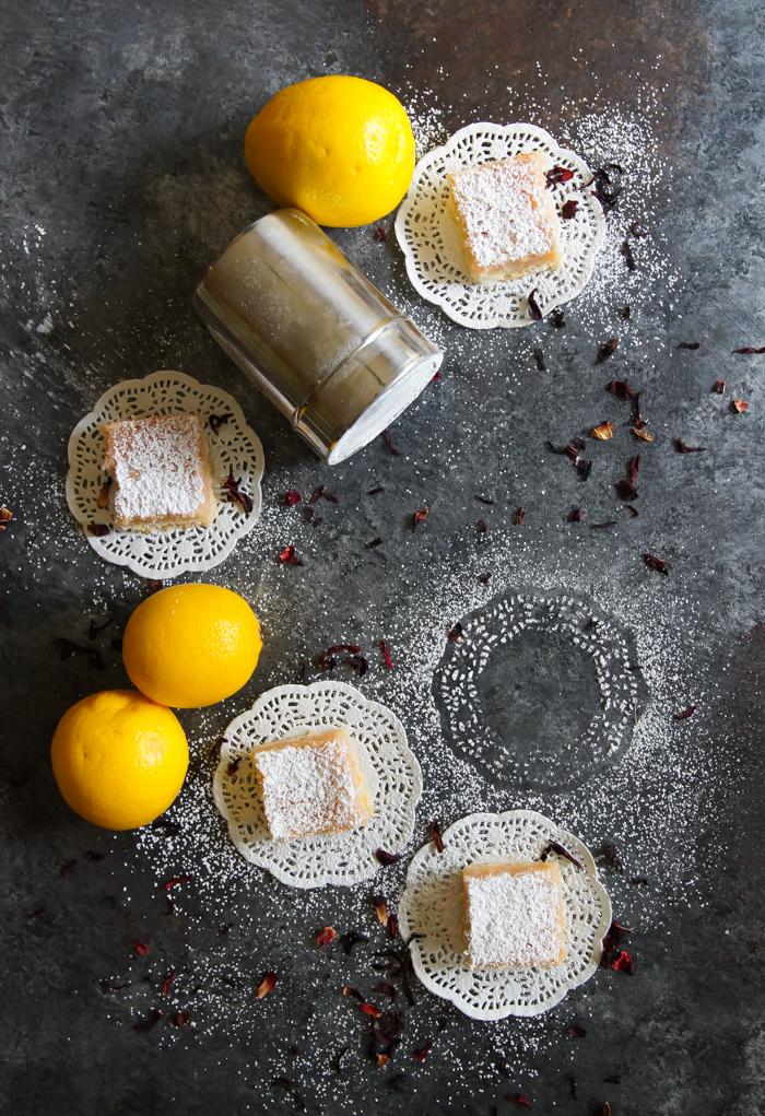 Hibiscus Lemon Squares