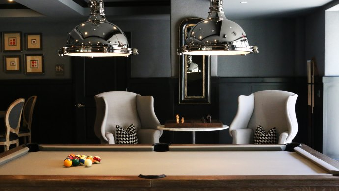 Wallpaper: Interior Design and Pool Table
