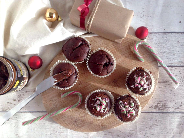 Velvety Candy Cane Chocolate Cupcakes (VEGAN) - Perfect little bites of Christmas joy that will want you want more! Lovely to make with kids for Santa, a Christmas gathering or little treat on Christmas eve