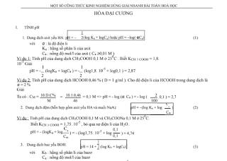 70+ công thức giải nhanh hóa học nhất định bạn phải biết