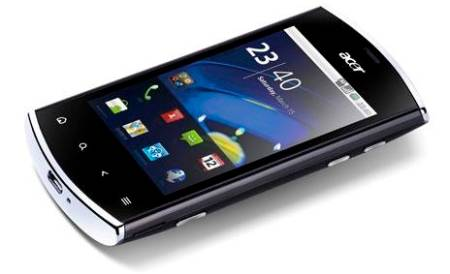 Acer Liquid mini E310 Specifications - LAUNCH Announced 2011, January DISPLAY Type TFT capacitive touchscreen, 256K colors Size 3.2 inches (~48.0% screen-to-body ratio) Resolution 320 x 480 pixels (~180 ppi pixel density) Multitouch Yes  - Touch sensitive controls  - Acer UI BODY Dimensions 110.4 x 57.5 x 13 mm (4.35 x 2.26 x 0.51 in) Weight 108 g (3.81 oz) SIM Mini-SIM PLATFORM OS Android OS, v2.2 (Froyo), upgradable to v2.3 (Gingerbread) CPU 600 MHz ARM 11 Chipset Qualcomm MSM7227-1 Snapdragon S1 GPU Adreno 200 MEMORY Card slot microSD, up to 32 GB (dedicated slot), 2 GB included Internal 512 MB RAM, 512 MB CAMERA Primary 5 MP Secondary No Features Geo-tagging Video 480p@30fps NETWORK Technology GSM / HSPA 2G bands GSM 850 / 900 / 1800 / 1900 3G bands HSDPA 900 / 2100    HSDPA 850 / 1900 - American version Speed HSPA 7.2/0.384 Mbps GPRS Yes EDGE Yes COMMS WLAN Wi-Fi 802.11 b/g, DLNA, hotspot GPS Yes, with A-GPS USB microUSB v2.0 Radio Stereo FM radio, RDS Bluetooth v2.1, A2DP, EDR FEATURES Sensors Accelerometer, proximity, compass Messaging SMS (threaded view), MMS, Email, Push Email, IM Browser HTML Java Yes, via Java MIDP emulator SOUND Alert types Vibration; MP3, WAV ringtones Loudspeaker Yes 3.5mm jack Yes BATTERY  Removable Li-Ion 1300 mAh battery Stand-by Up to 400 h (2G) / Up to 480 h (3G) Talk time Up to 8 h (2G) / Up to 6 h 30 min (3G) Music play  MISC Colors blue, pink, silver, black, green, lagoon, cherry, pearl, steel  - MP3/WAV/WMA/eAAC+ player - MP4/WMV/H.264 player - Document viewer  - Voice memo - Predictive text input