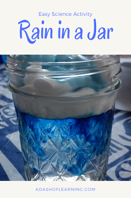Rain in a Jar: Easy Science Activity