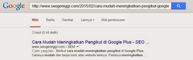 Artikel Sukses Terindex Oleh Search Engine Google