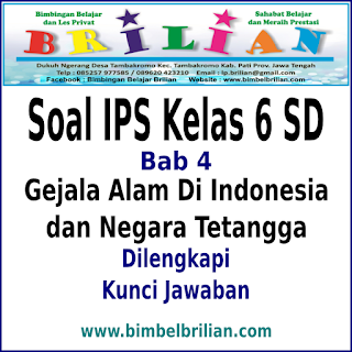 Download Soal IPS Kelas 6 SD BAB Gejala Alam Di Indonesia dan Negara Tetangga Dan Kunci Jawaban
