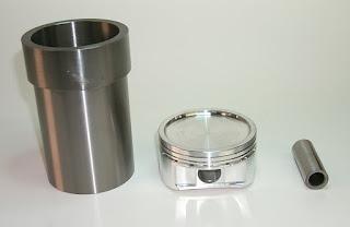 canna cilindri maggiorata con relativo pistone e spinotto