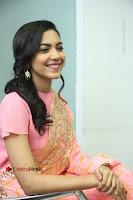 Actress Ritu Varma Pos in Beautiful Pink Anarkali Dress at at Keshava Movie Interview .COM 0261.JPG