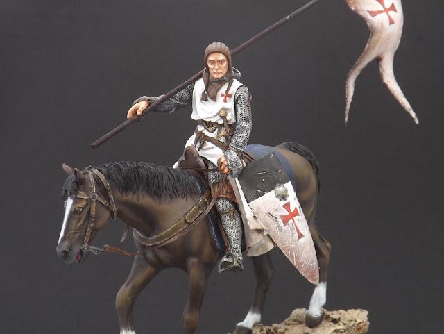 Templar Knight on Horseback c.XI - Andrea Miniatures 90mm Templar%2B7