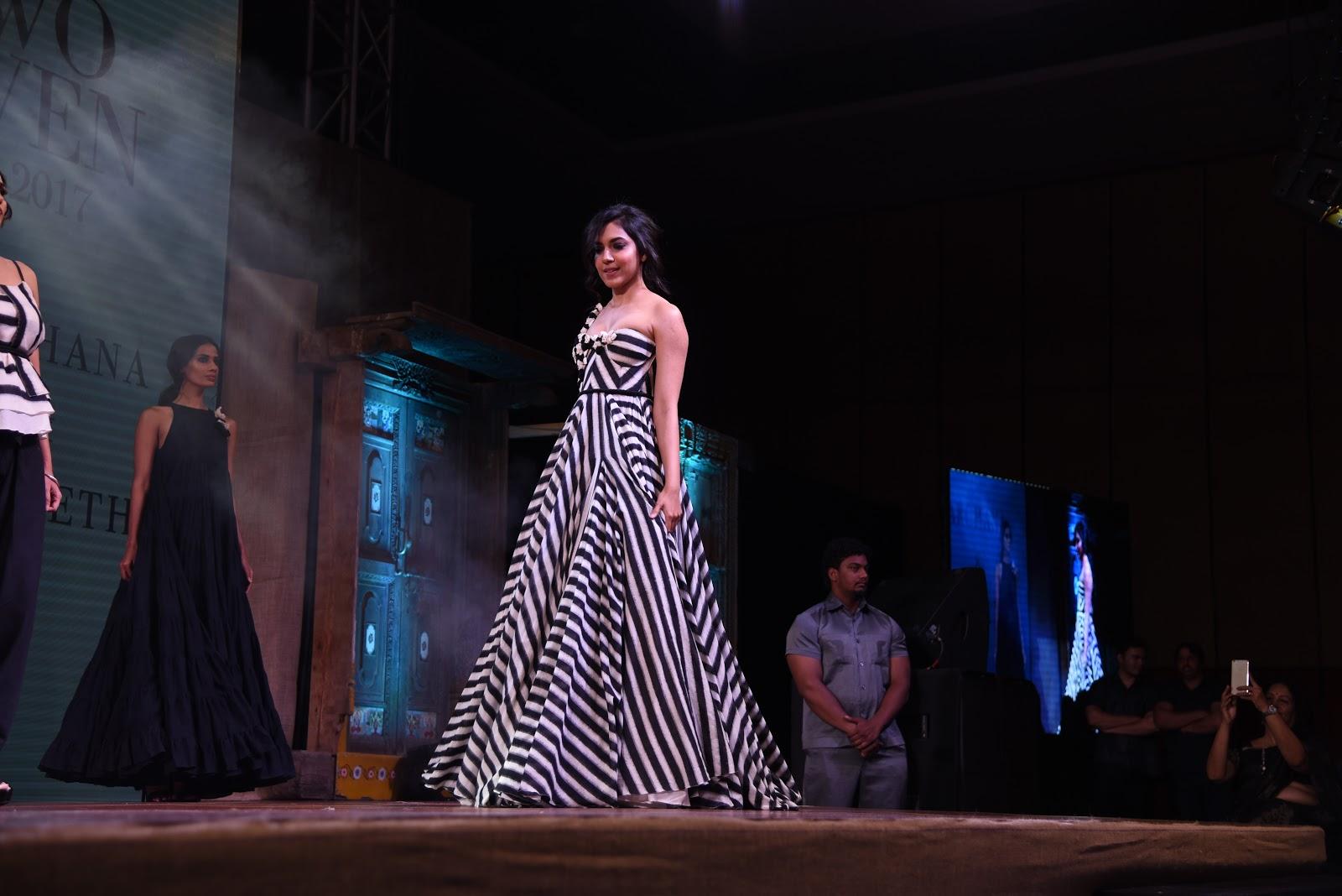 Ritu Varma walks the ramp in a Zebra Pring Gown