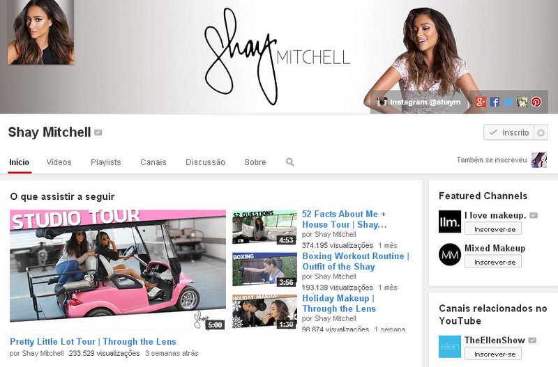 Shay Mitchell Canal Youtube Emily Pretty Little Liars