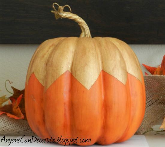 Ways To Paint A Pumpkin: Anyone Can Decorate: Fun Fall Pumpkin