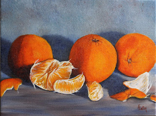 Oranges Still Life 2 by Helen Eaton