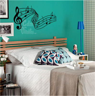 vinilo decorativo pared pentagrama musical