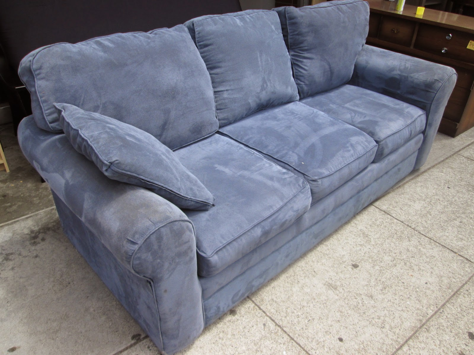 Uhuru Furniture Amp Collectibles Sold Blue Corduroy Sofa 115